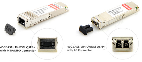 two links of QSFP+ 40GBASE-LR4