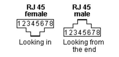 RJ45 male to female connector