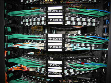 angled patch panel