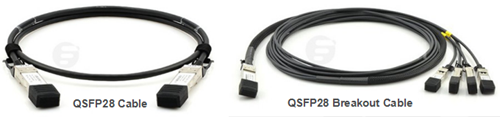 QSFP28 Cable for 100G Direct Cabling and QSFP28 Breakout Cable for 100G Breakout Cabling
