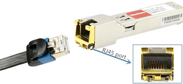10g copper sfp+ rj45 port