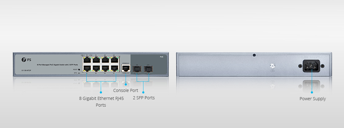8-Port Gigabit PoE+ Managed Switch