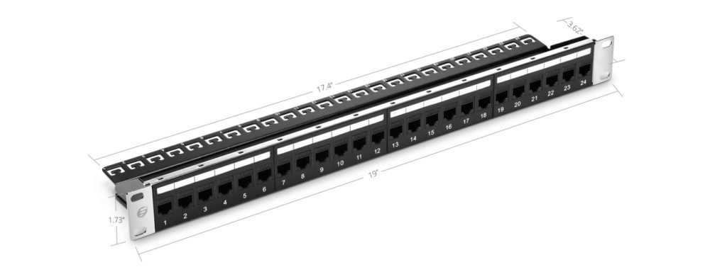 unshielded feed through patch panel