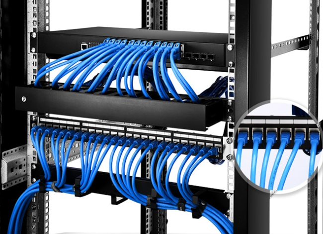 How To Use Cat6a Patch Panel For Network Cabling Fiber