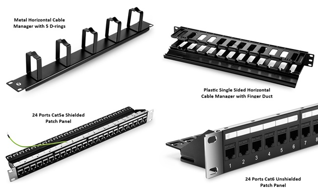 Horizontal Cable Management Devices