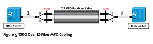 100G over 12-Fiber MPO Cabling