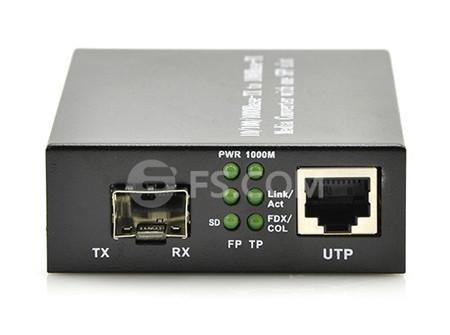 1000Base 1SFP+1RJ45 Ports Gigabit Fiber Media Converter
