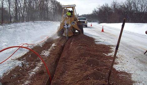underground fiber installation