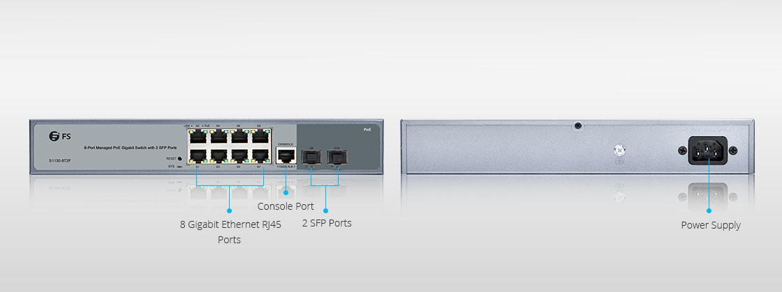 8-Port Gigabit PoE+ Managed Switch