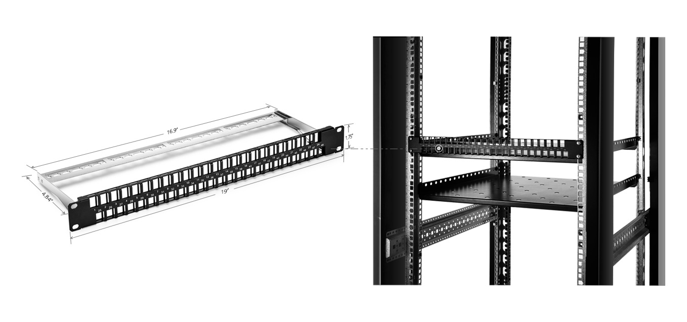 2x 24 Port Patch Panels Or 1x 48 Panel Cat 6 Cable Wiring