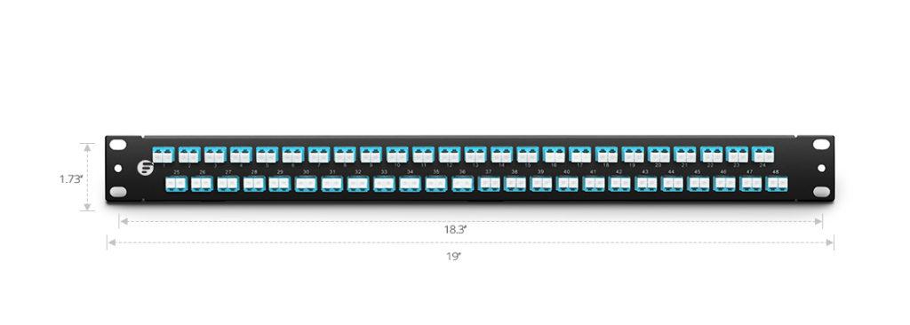 48 Port LC Fiber Patch Panel